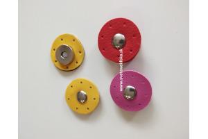 Zapínanie kožené s magnetom - na prišívanie kruhové