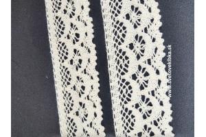 Čipka-krajka bavlnená šírka 50 mm