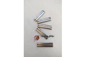 Kovový štítok - obdĺžnik - Ručne vyrobené